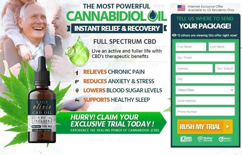 Sage Elixir CBD Oil 2