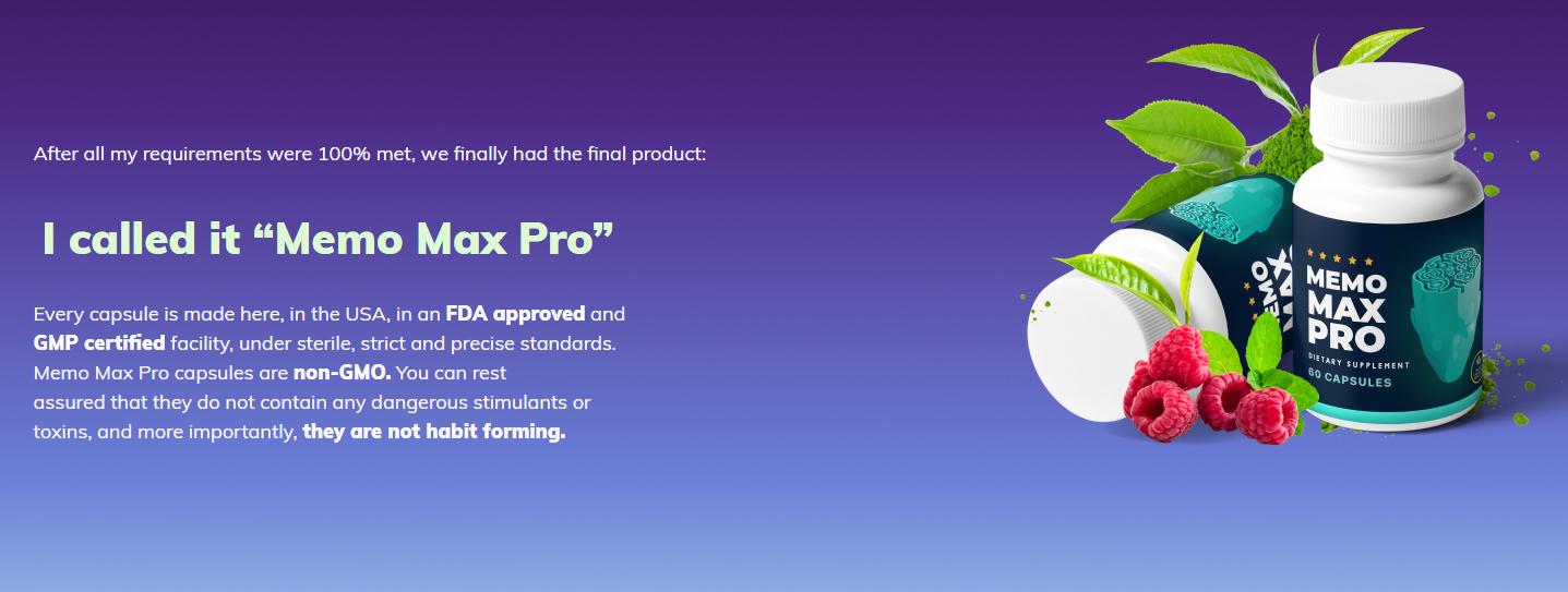 Memo Max Pro 1